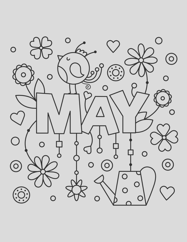 may coloring pages