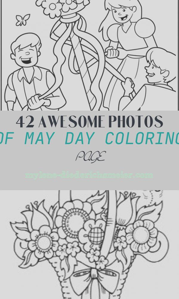May Day Coloring Page Unique May Day Maypole Coloring Page