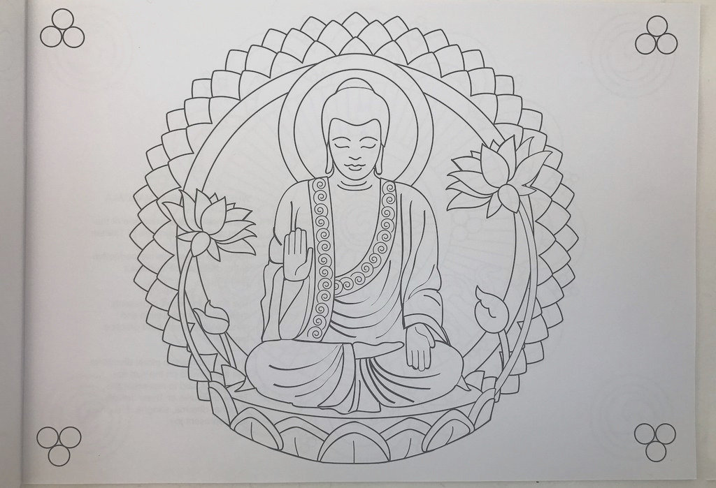 mindful meditation coloring book