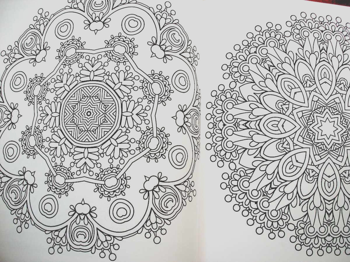 the mandala meditation coloring book bines