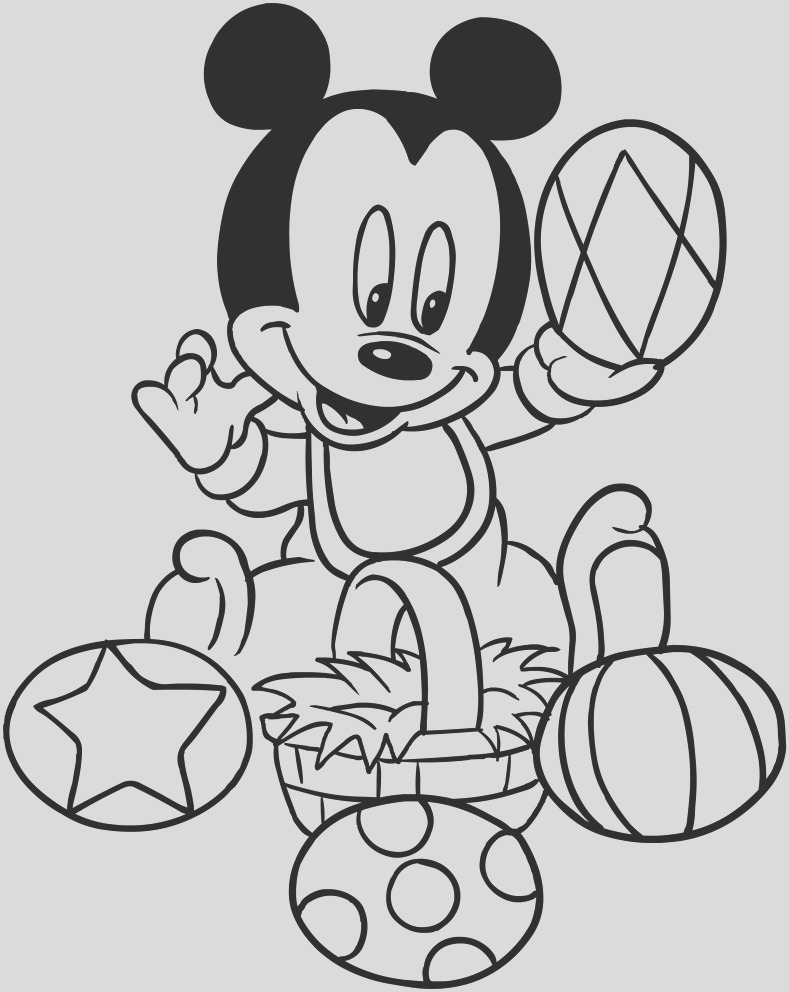 baby mickey mouse easter