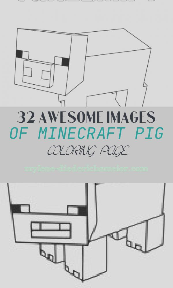 Minecraft Pig Coloring Page Luxury Minecraft Pig Coloring Page Super Fun Coloring