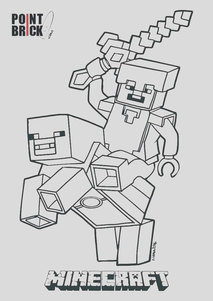 minecraft skeleton coloring pages