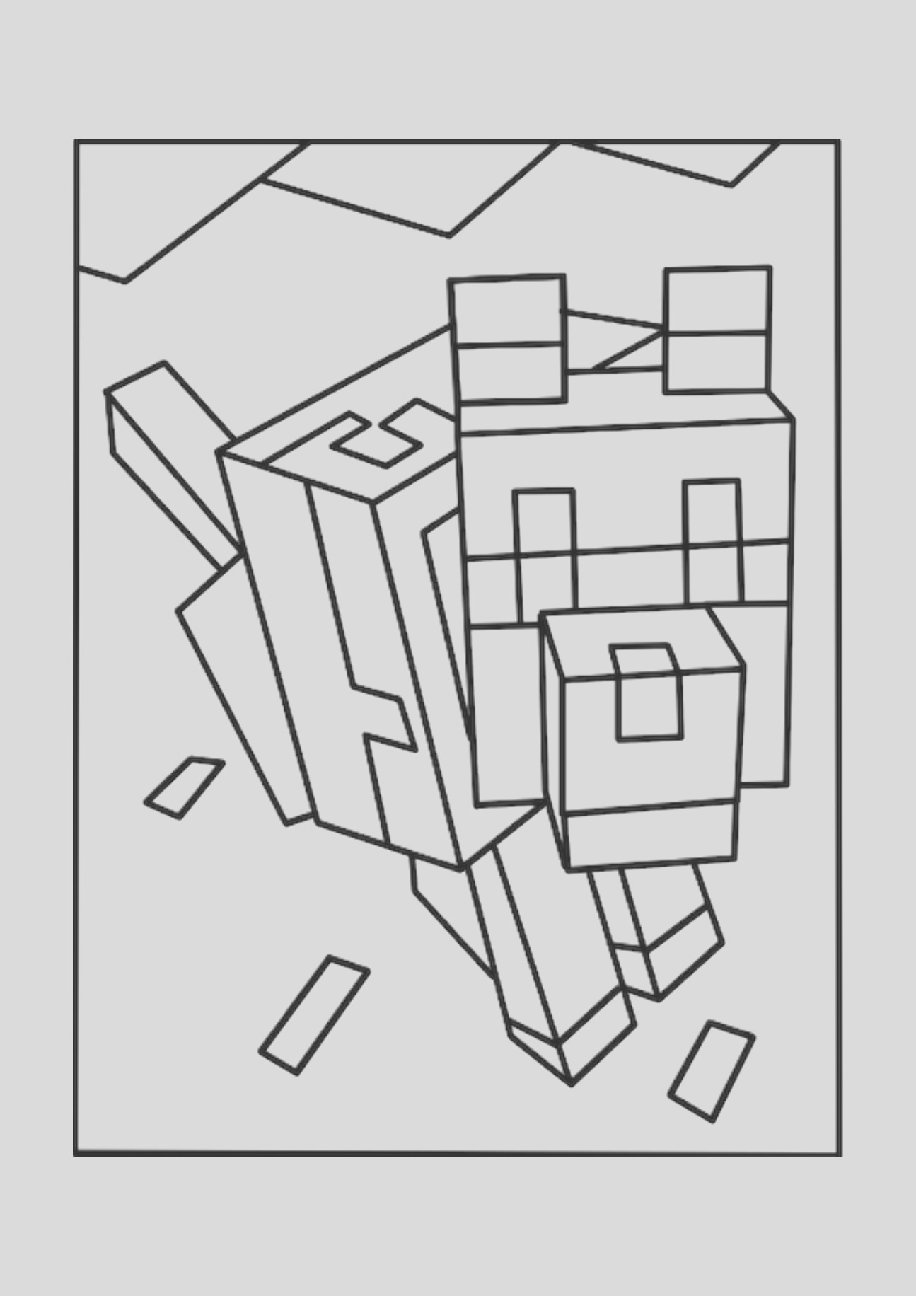 minecraft iron golem coloring pages