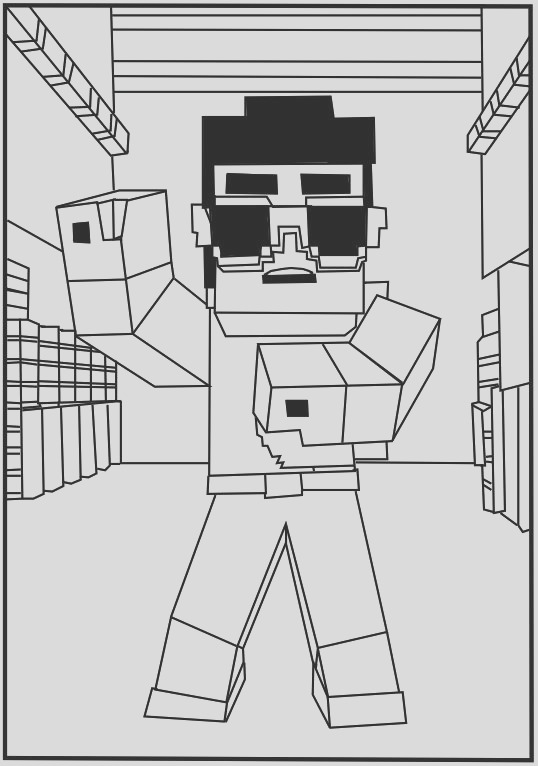 minecraft coloring pictures