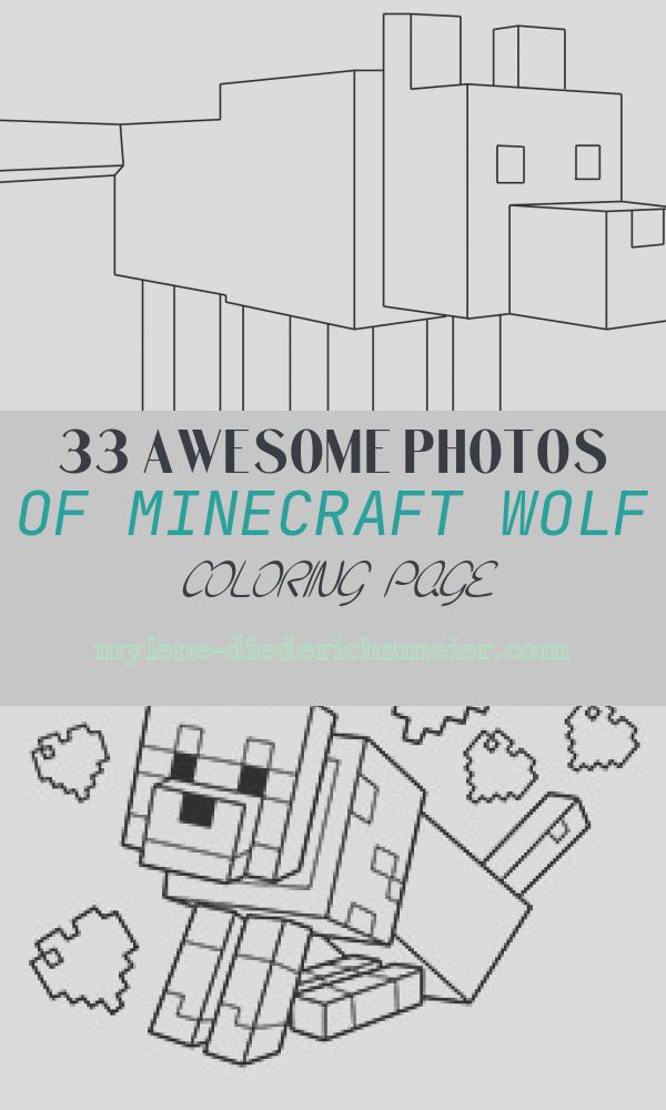Minecraft Wolf Coloring Page Unique Minecraft Wolf Coloring Page