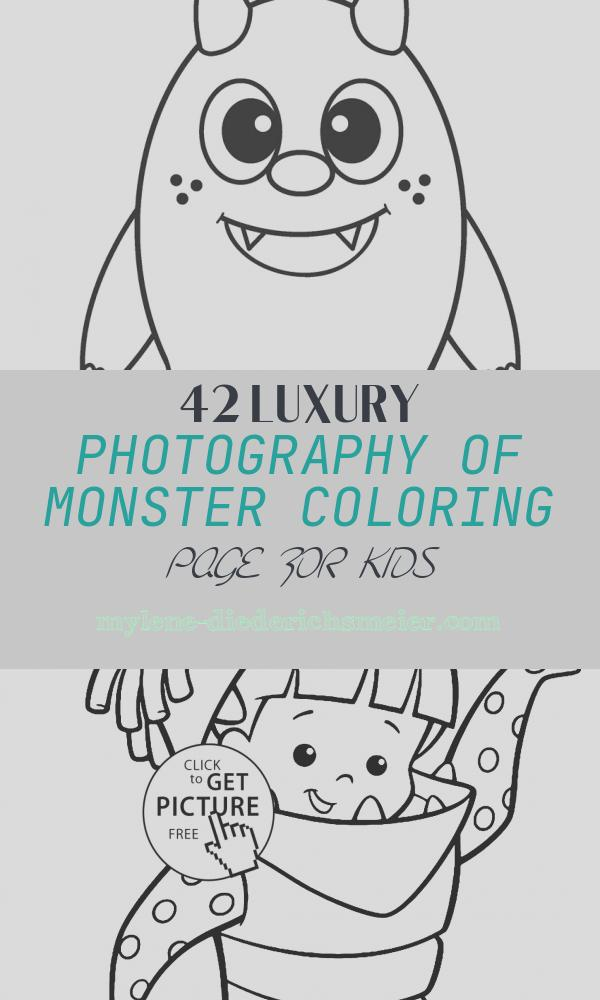 Monster Coloring Page for Kids Elegant Free Printable Monster Coloring Pages for Kids