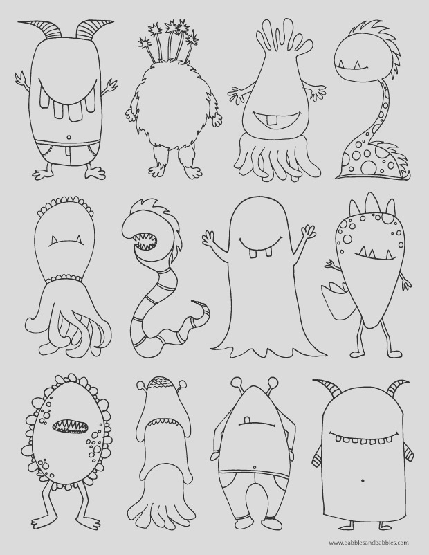monsters coloring page