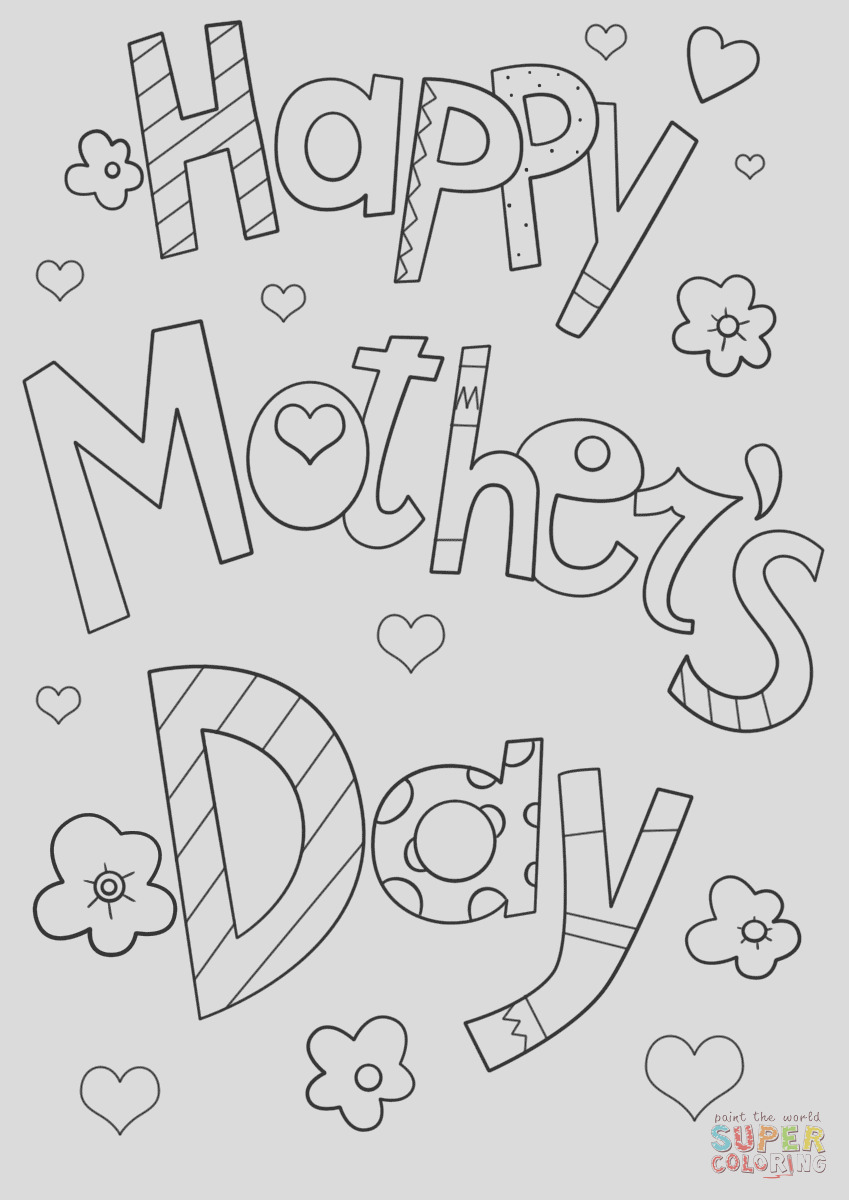 happy mothers day doodle