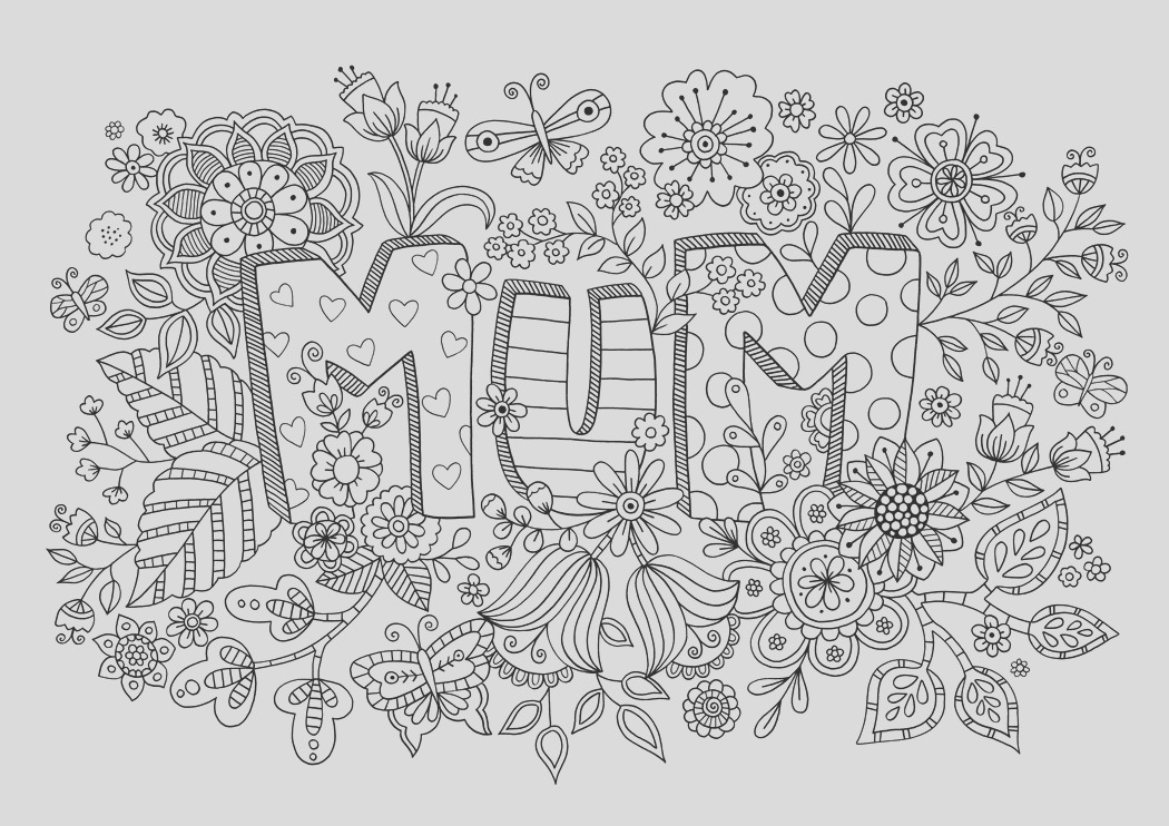 free mothers day colouring