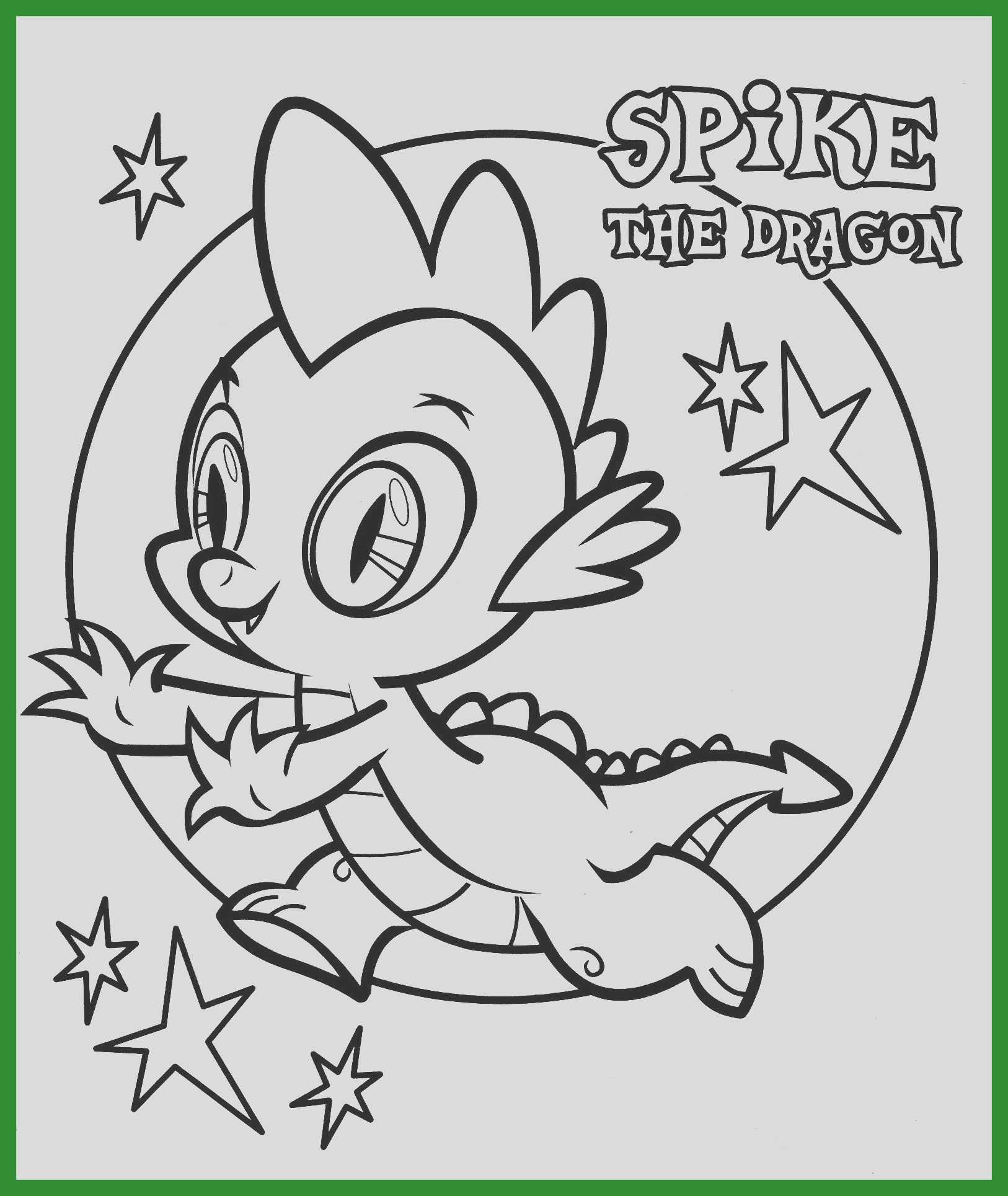 spike my little pony coloring page