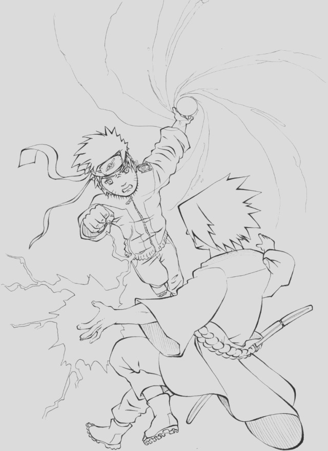 naruto and sasuke coloring pages