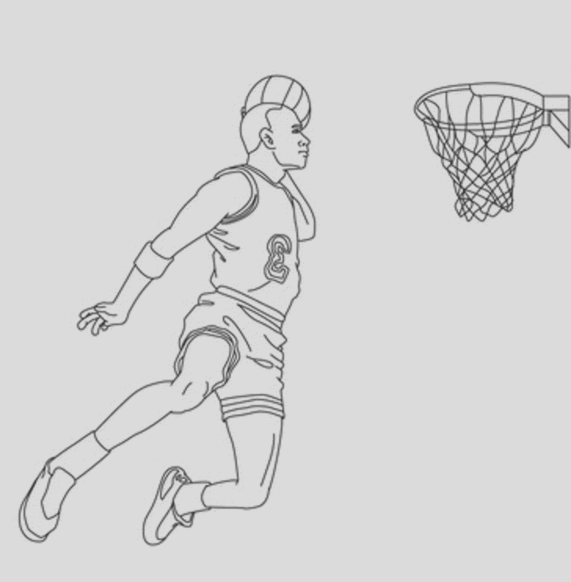 interesting basketball coloring pages