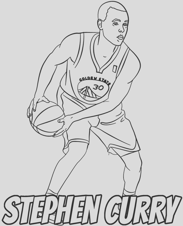 stephen curry coloring sheet