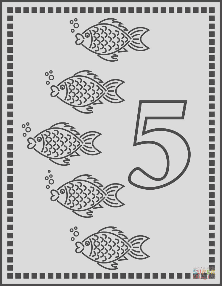 number 5 or five fishes