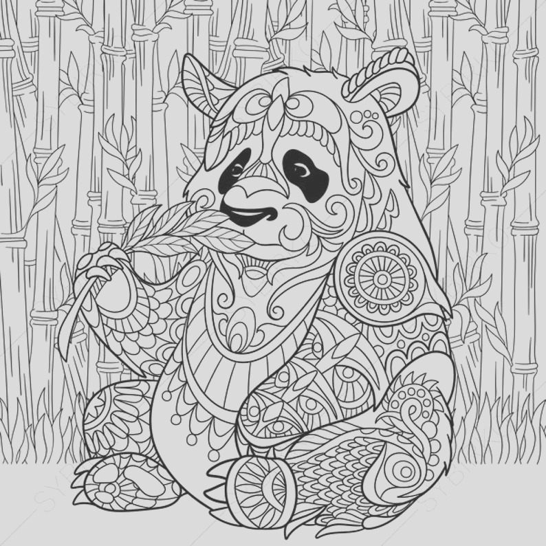 panda bear 2 coloring pages animal