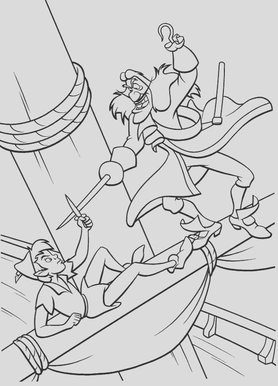 coloring pages 14 peter pan