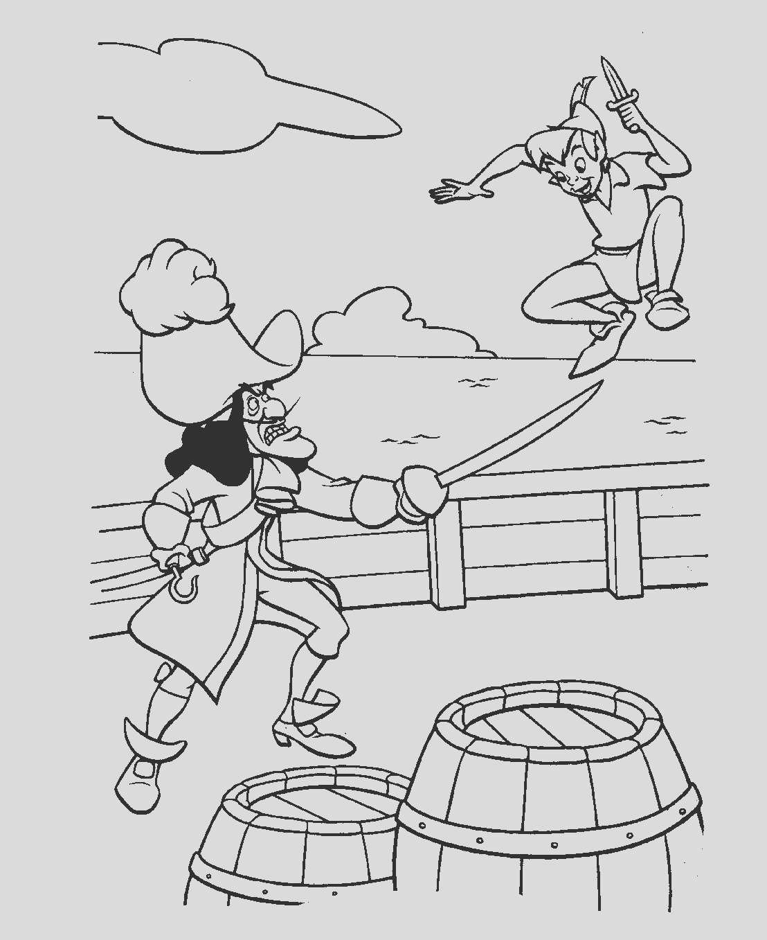 peter pan coloring pages