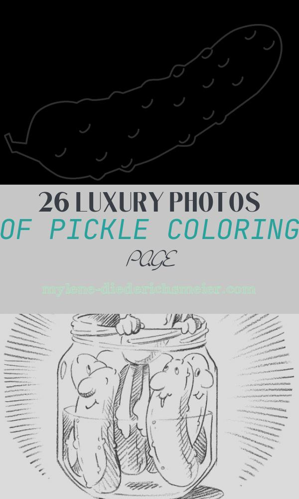 Pickle Coloring Page Best Of Pickle Clipart Black and White Pickle Black and White