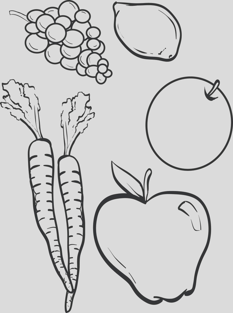 fruit and ve able coloring page a4189