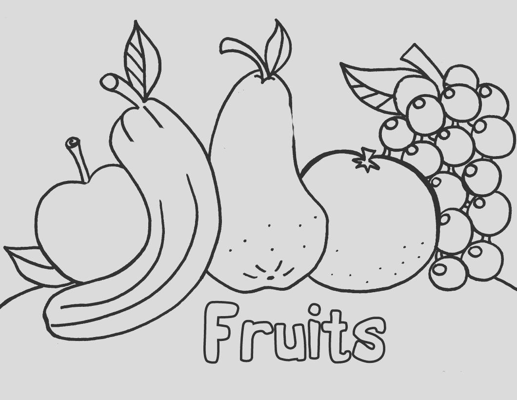 coloring pages of fresh fruit and