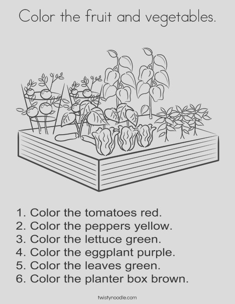 color the fruit and ve ables 3 coloring page