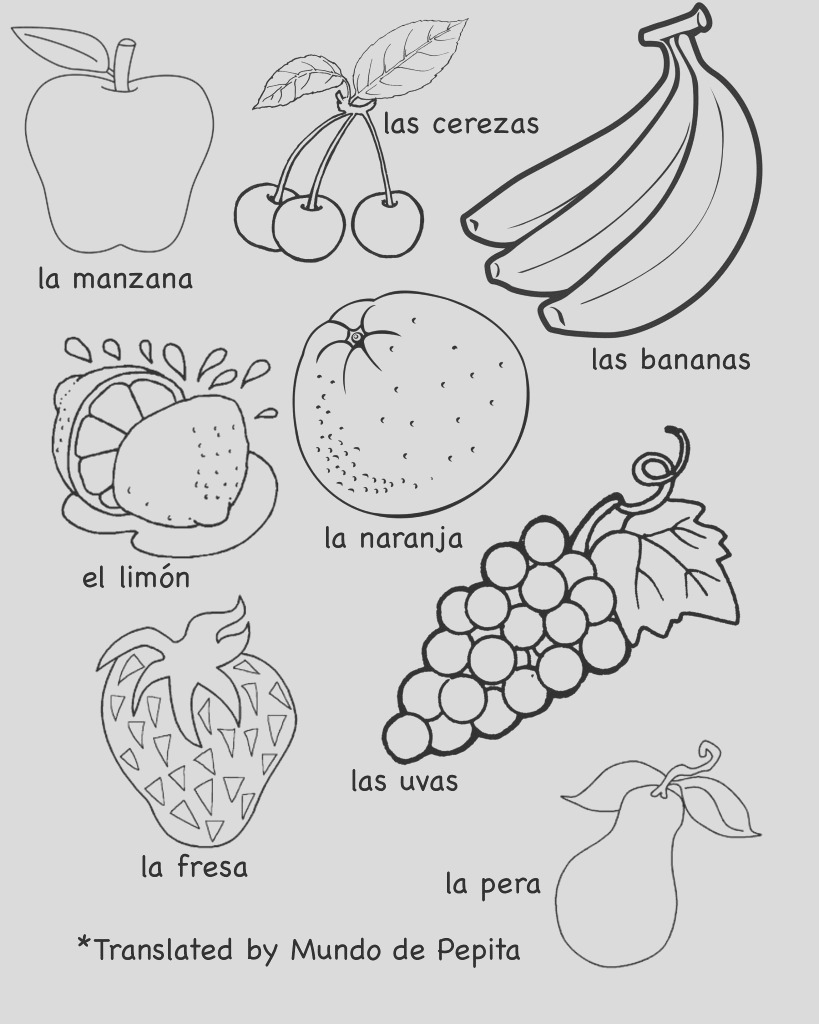 multilingual printables fruits and ve ables in 7 languages