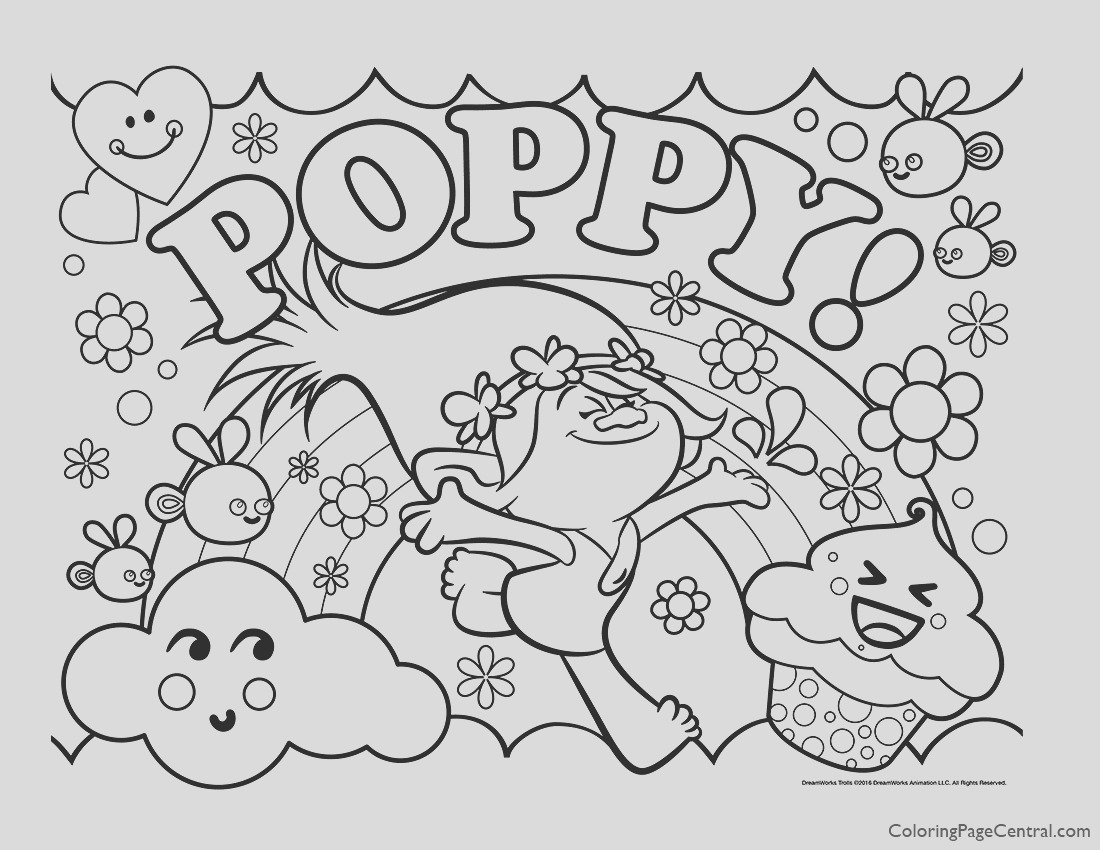 trolls poppy coloring page 06
