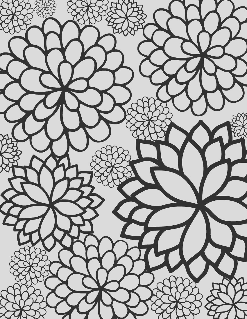 bursting blossoms flower coloring page