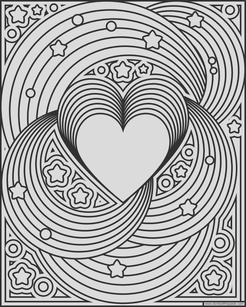 rainbow love coloring page