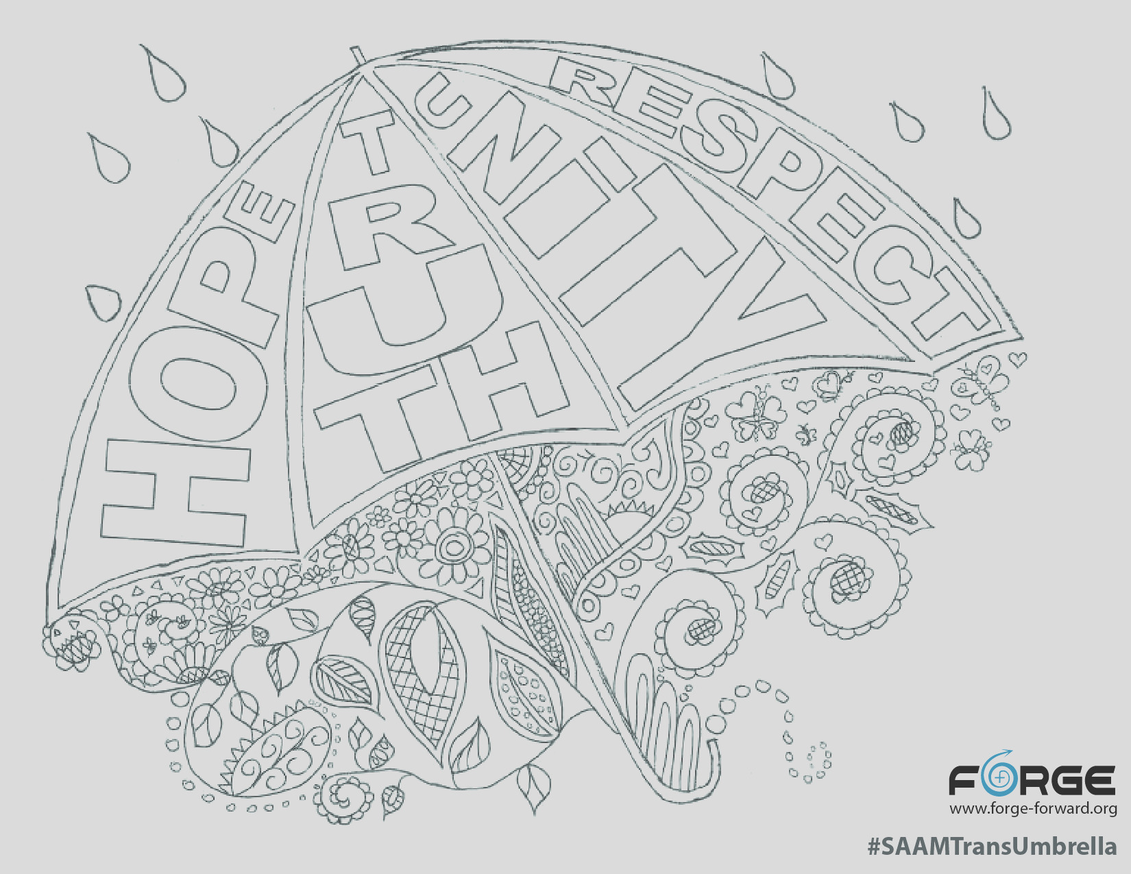 saam trans umbrella coloring page