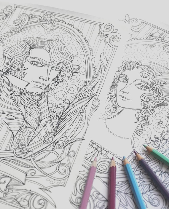coloring page pride and prejudice