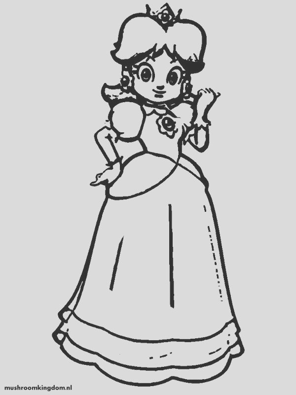 coloring pages princess daisy