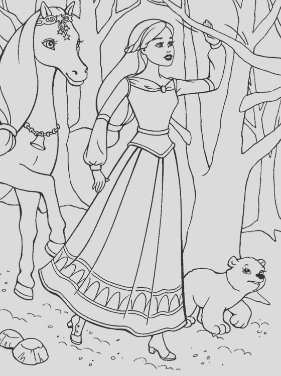 barbie coloring pages for childrens