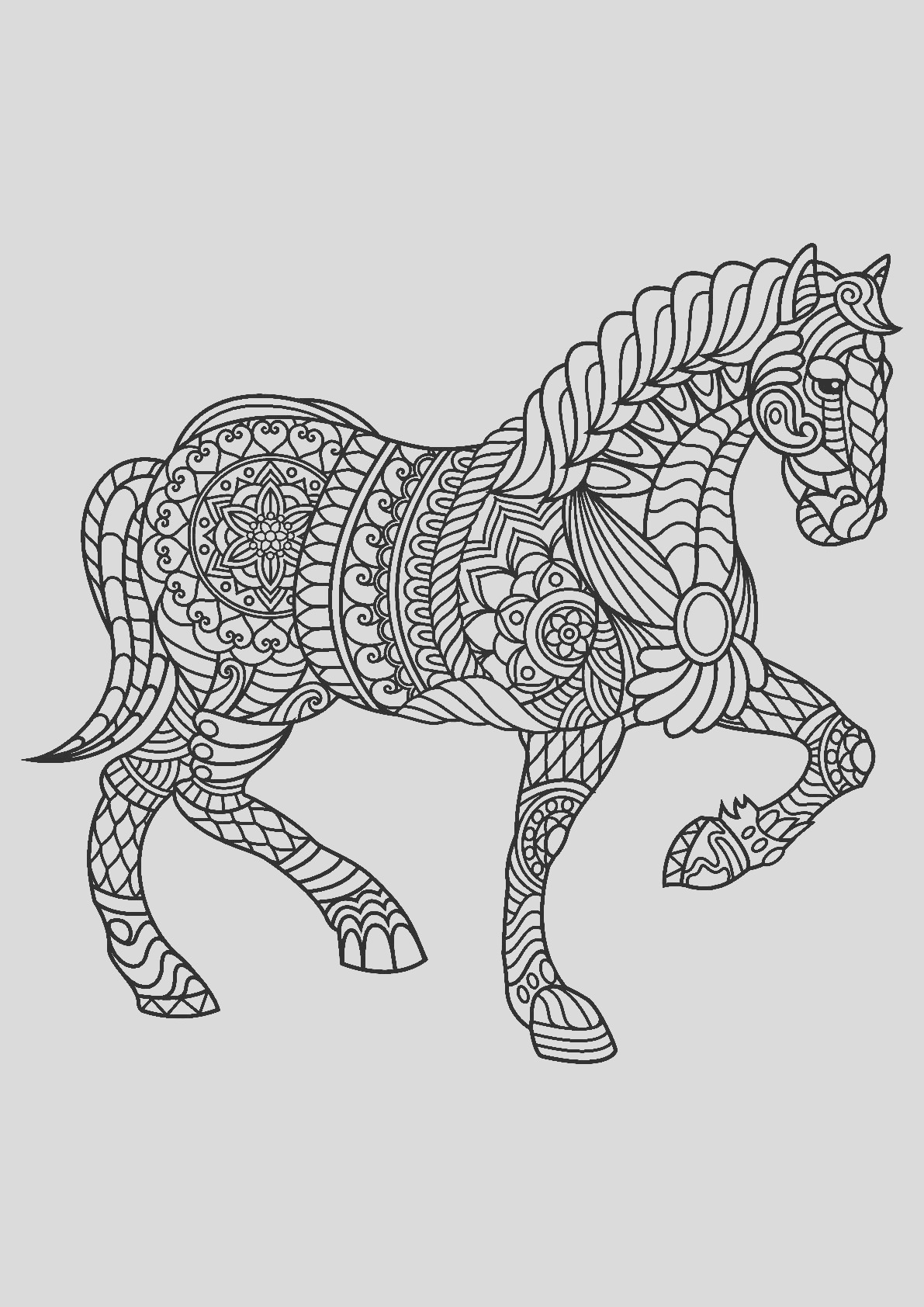 image=horses coloring pages for children horses 1