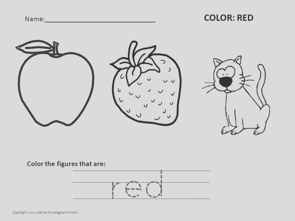red coloring pages printable