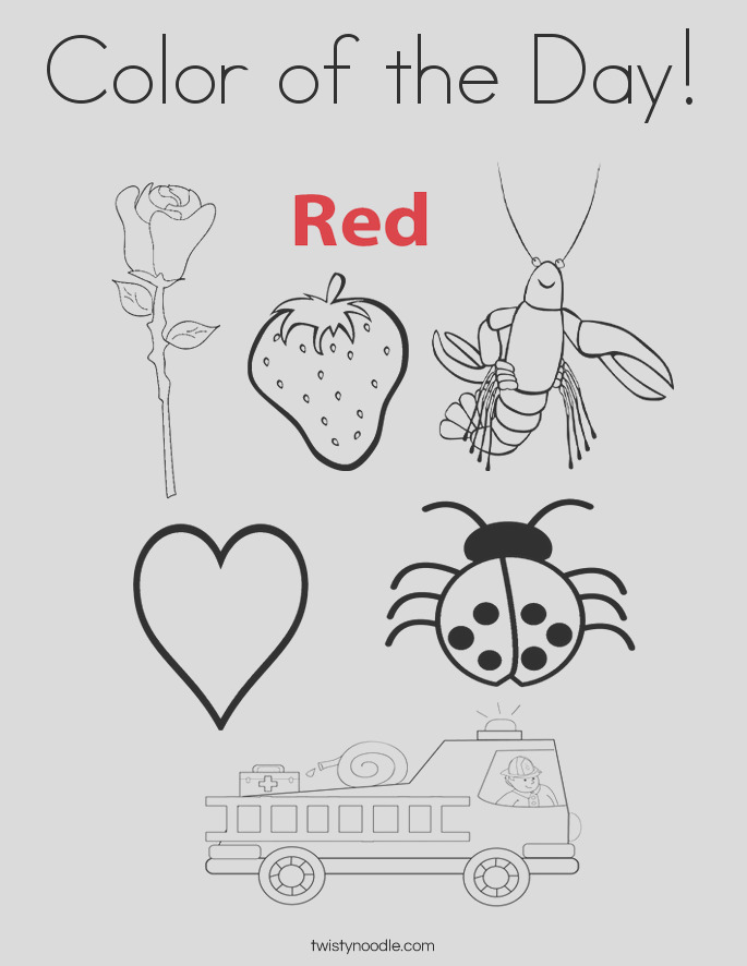 color of the day 2 coloring page
