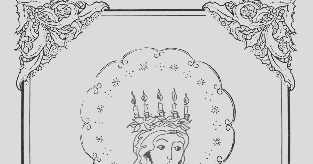 free st lucy coloring page