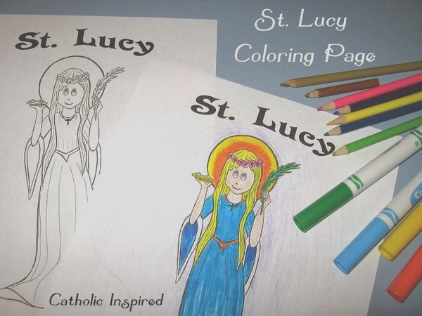 st lucy coloring page