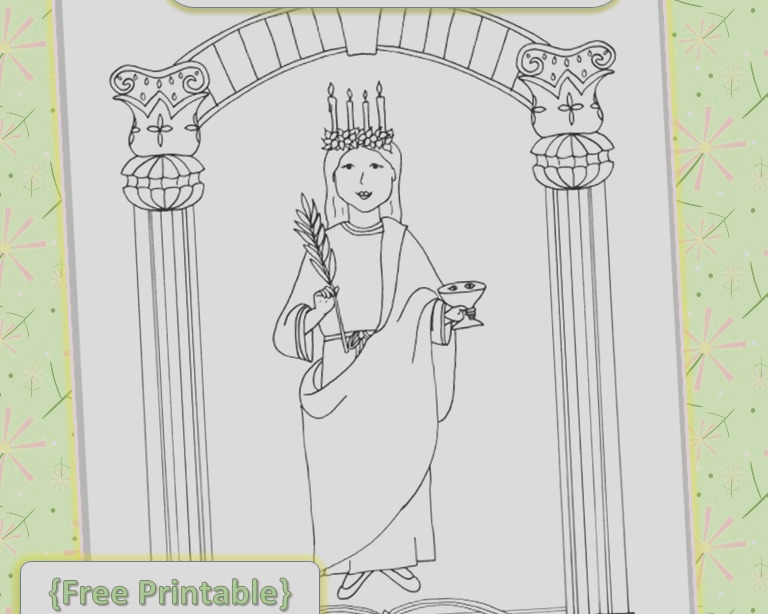 saint lucy coloring page free printable
