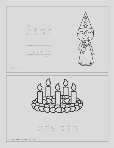 saint lucy printables and worksheet packet