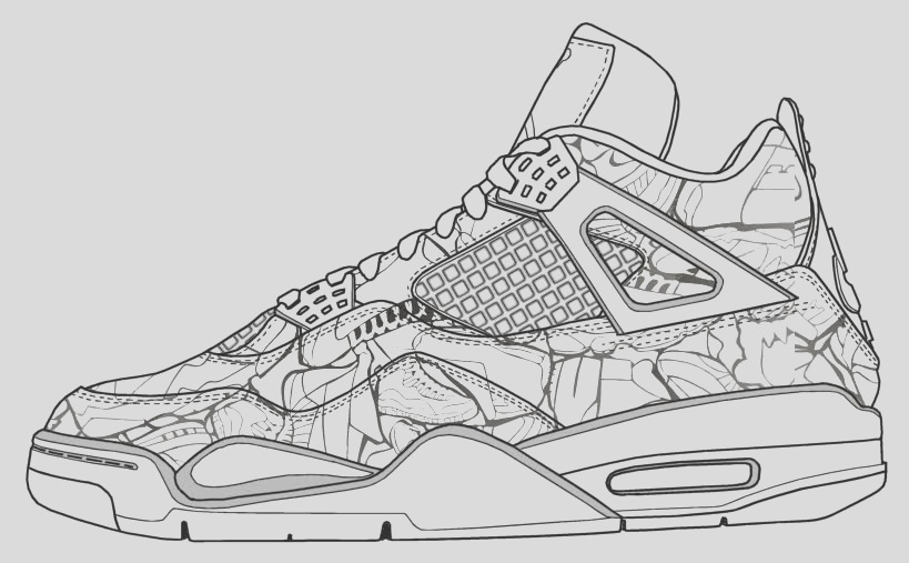 jordan shoes coloring pages