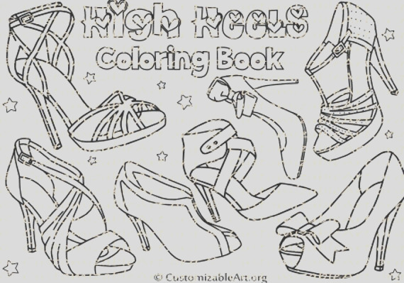 high heel shoes coloring book womens
