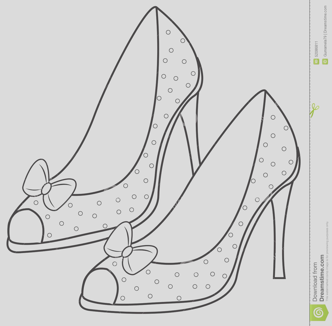 stock illustration lady s sandals coloring page useful as book kids image