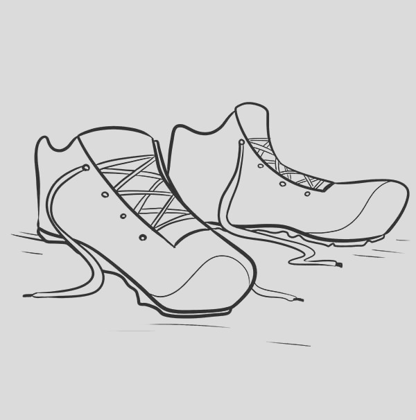 shoes for running coloring page
