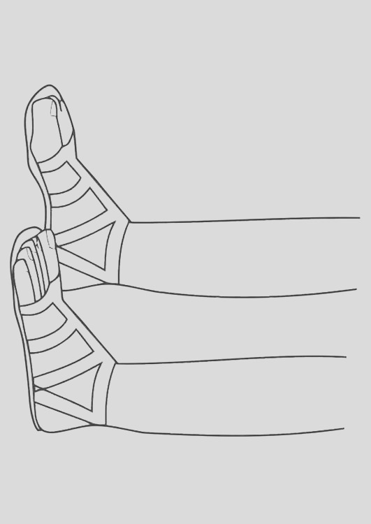 coloring page sandals i