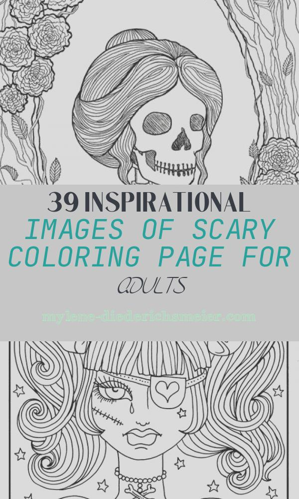 Scary Coloring Page for Adults Beautiful Best Halloween Coloring Books for Adults Cleverpedia