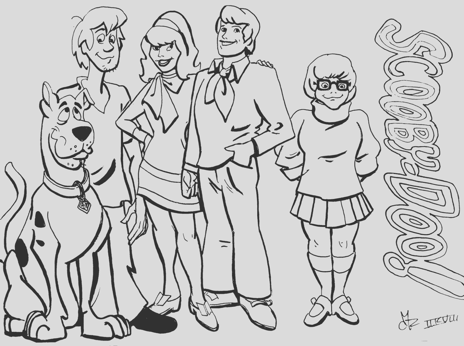 free scooby doo gang coloring pages