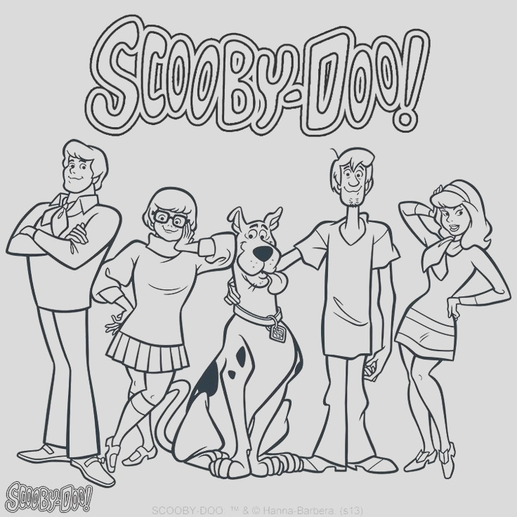 scooby doo coloring sheets