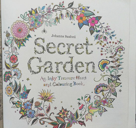 secret garden coloring book pages pleted inspir